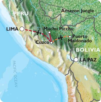 CUSCO to LIMA (12 days) Incas & Amazon (Inc. Amazon Jungle)