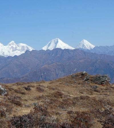 View of Mount Chomolhari (7,134m), Mount Jitchu Drake (6,900m)