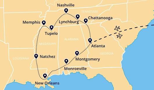 SouthernSightsAndSounds Map