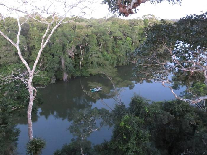 View over Soledad lake from canopy tower