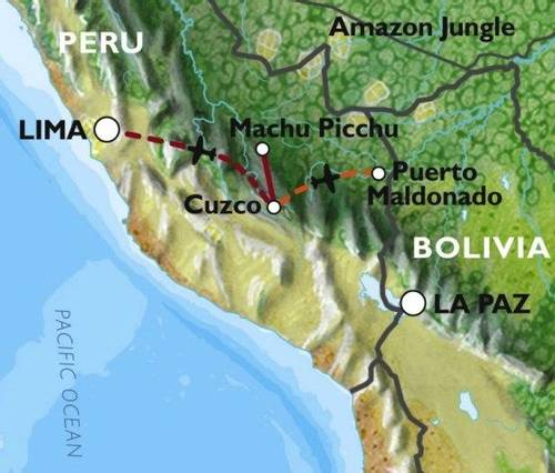 CUSCO to LIMA (12 days) Incas & Amazon Family Adventure