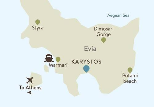 Evia Itinerary Map
