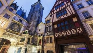 Old architecture of Rouen. Rouen, Normandy, France