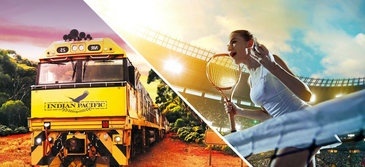 Australian Open Tennis and Indian Pacific Adventure