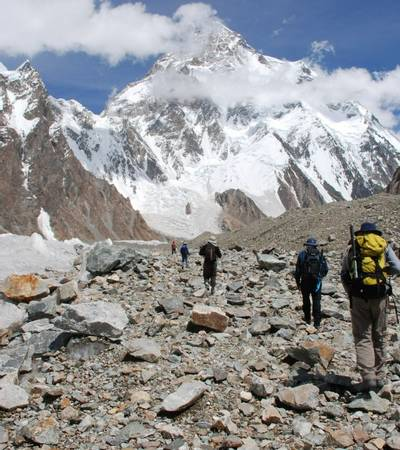 Walking to K2 Base Camp