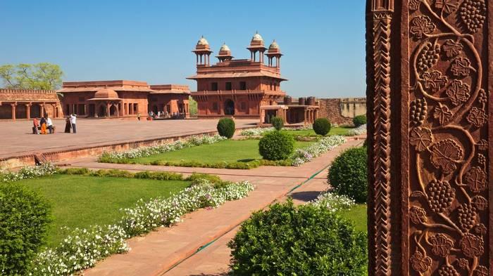 Fatehpur Sikri grass
