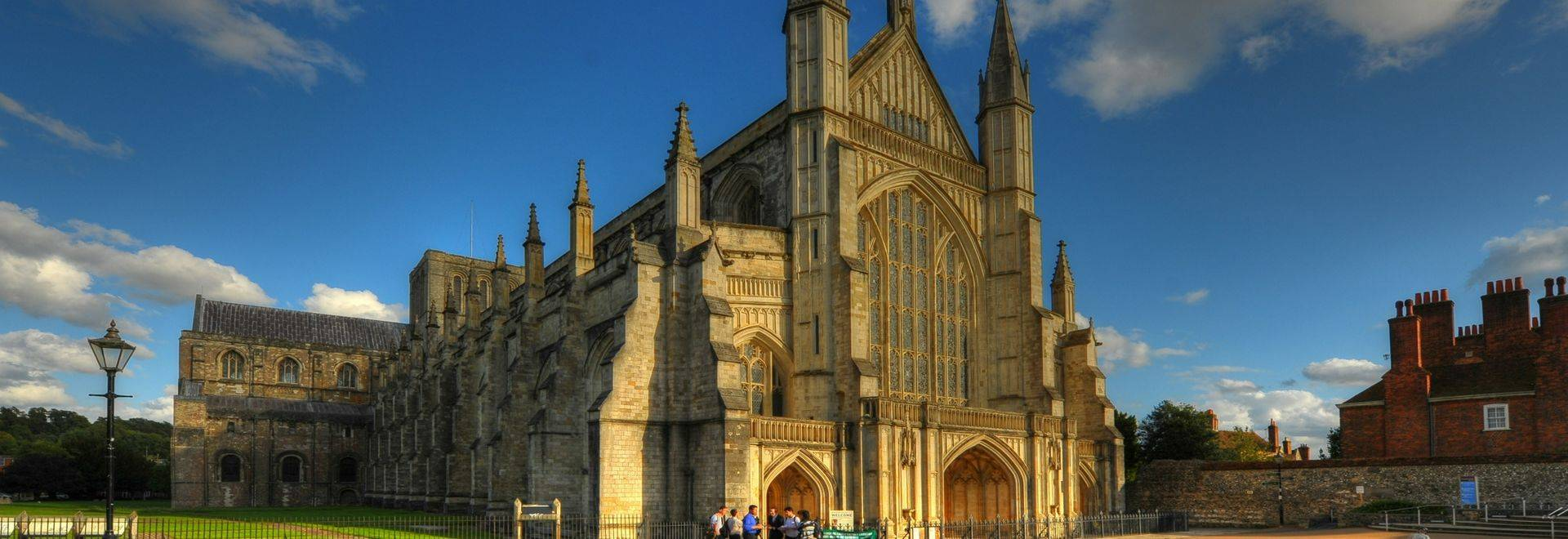 Landmark Winchester Cathedral which is main tourist attraction of this English historic city.