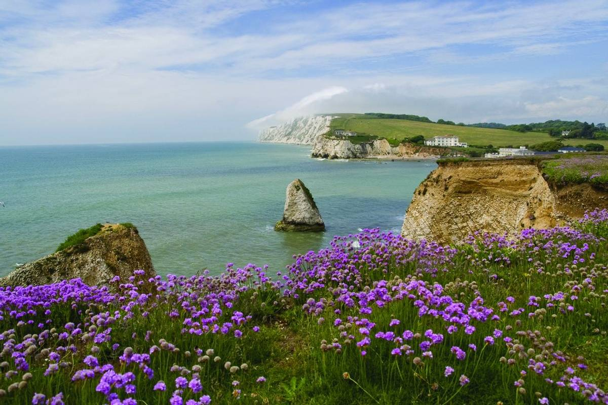 Freshwater bay auf der Isle of Wight