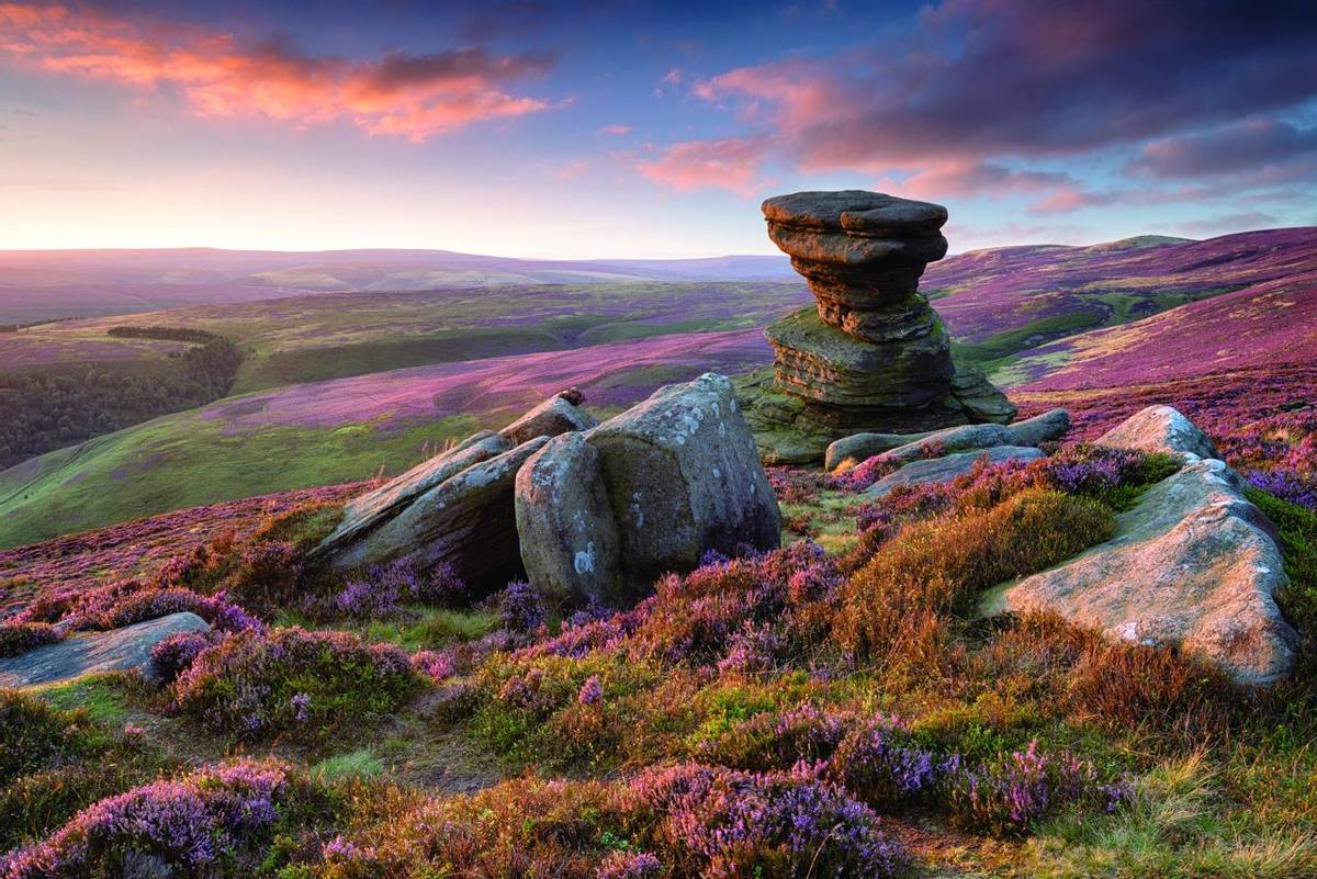 The Salt Cellar on Derwent Edge in the Peak District