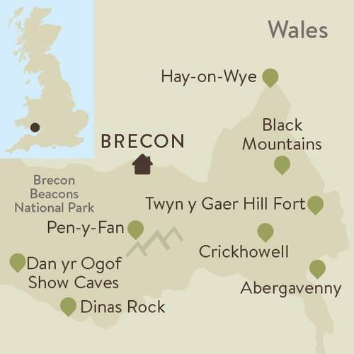 Brecon Beacons Family Walking Itinerary Map