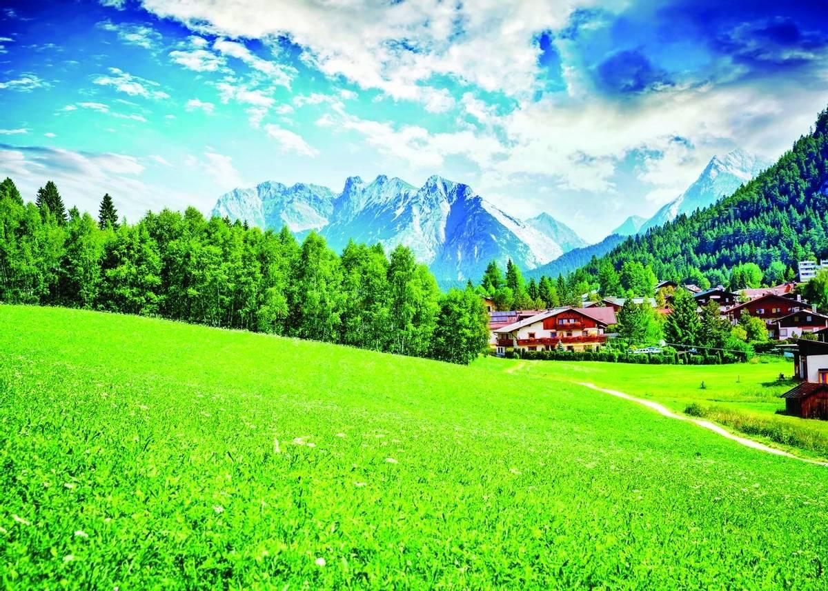 Beautiful little mountainous village