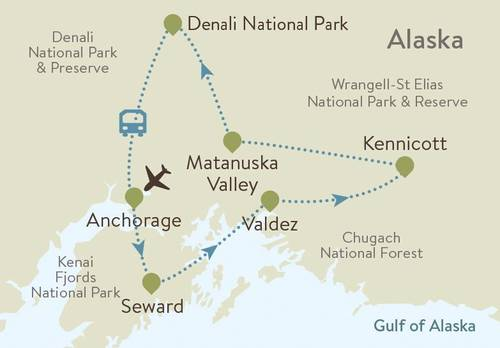 Alaska Itinerary Map