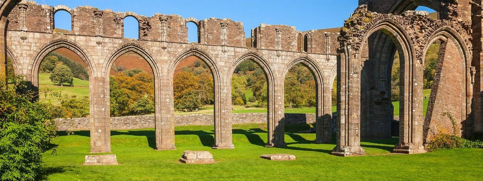 Remains of Nave from the cloisterLlanthony Priory Cadw SitesSAMN: MM004NGR: SO289278MonmouthshireSouthPrioriesMediev…