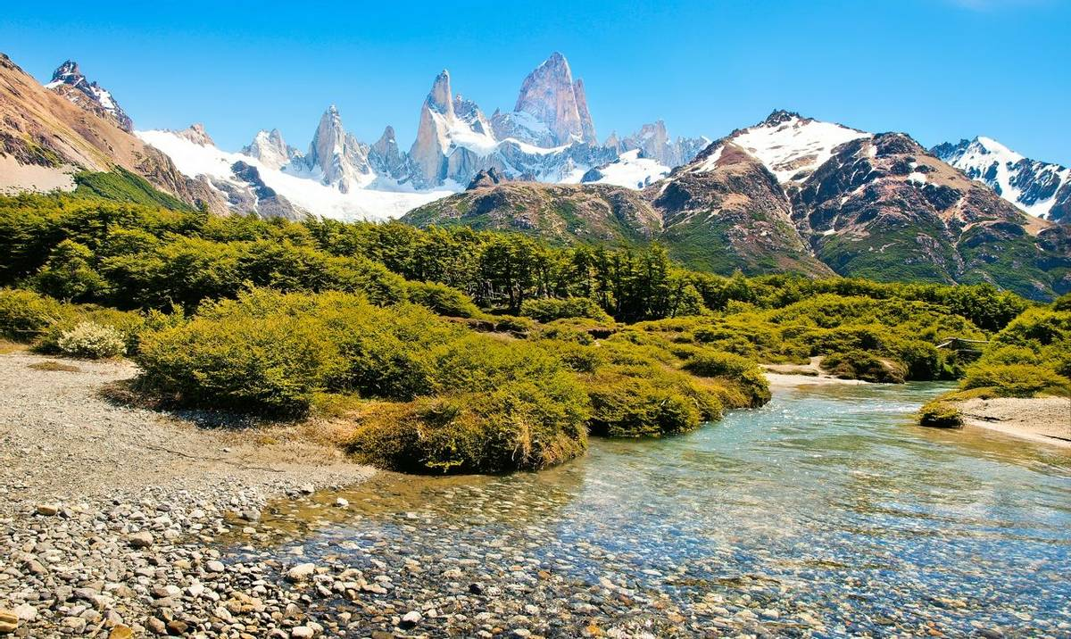 Mt Fitz Roy In Los Glaciares National Park, Patagonia, Argentina, South America. Shutterstock 121352653