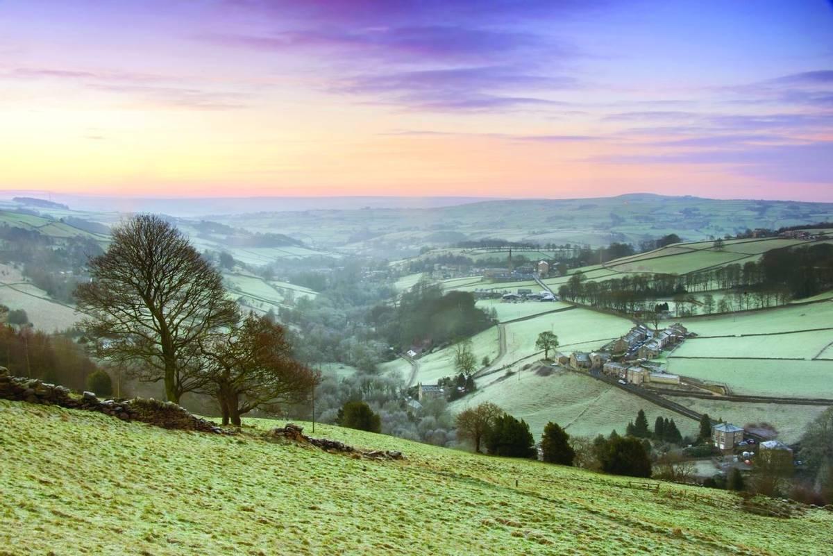 Frosty Yorkshire Winter Landscape