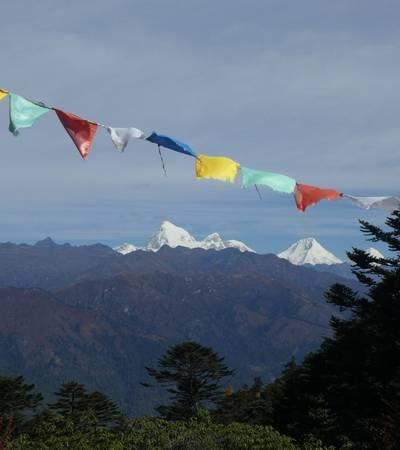 View from pass on Haa Valley Pilgrim trek