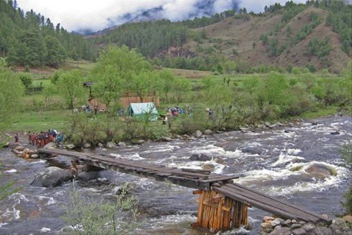 A typical campsite on the Bumthang trek