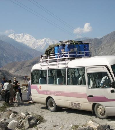 Driving the Karakoram Highway known as
