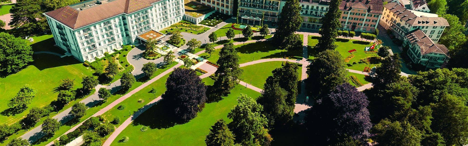 Grand Resort Bad Ragaz Property Shot Aerial