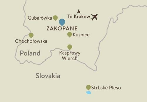 Zakopane Itinerary Map