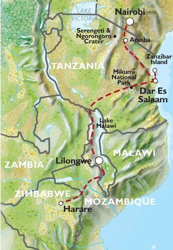 NAIROBI to HARARE (22 days) Savanna Dawn