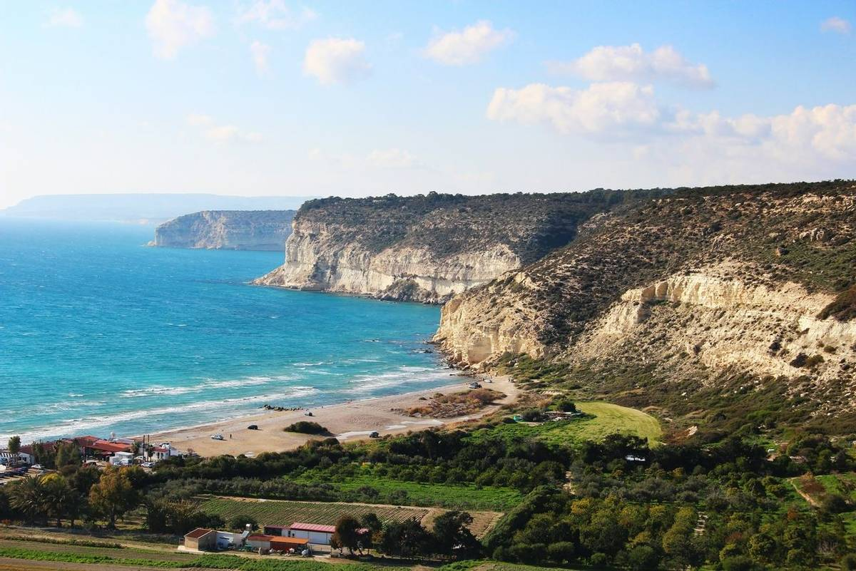 Mediterranean coast near ancient town of Kourion, Cyprus