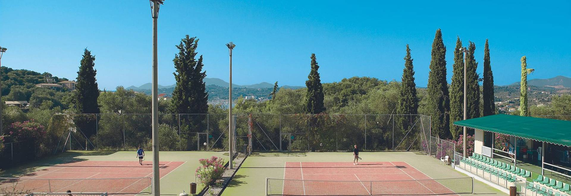 7 Tennis Courts Amidst The Dassia Pine Forest