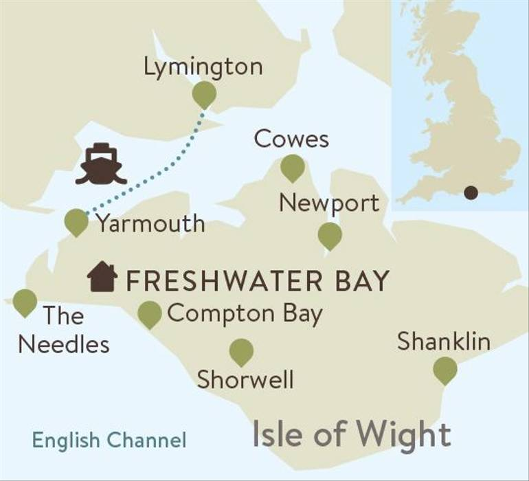 Isle of Wight Family Walking Itinerary Map