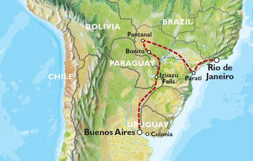 BUENOS AIRES to RIO (18 days) Waterfalls, Wetlands & Wildlife