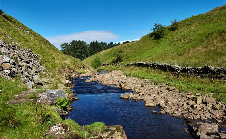 A view of the river Rawthey , Uldale, near Sedbergh. Yorkshire Dales National Park