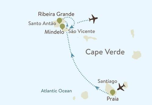 Cape Verde Itinerary Map