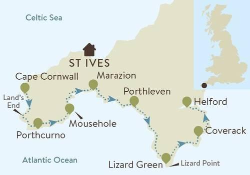 South Cornwall Coast Map