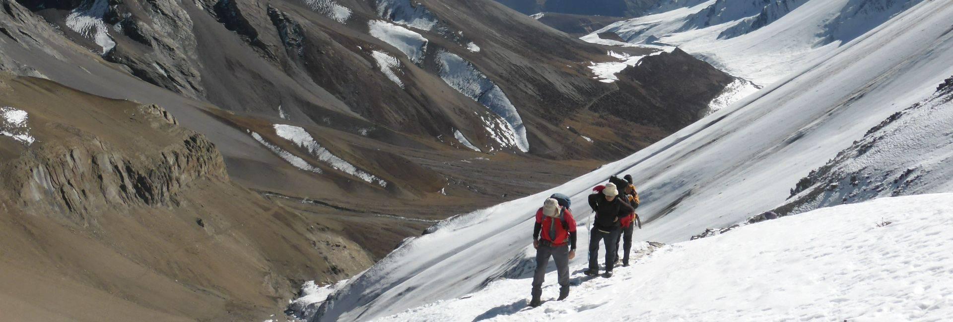 Naar to Upper Mustang trek over Teri La in Nepal