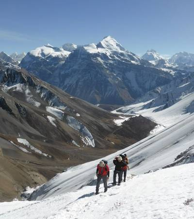 Naar to Upper Mustang trek over Teri La in Nepal