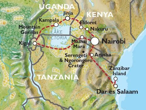 NAIROBI to DAR ES SALAAM (33 days) Gorillas, Gameparks & Zanzibar