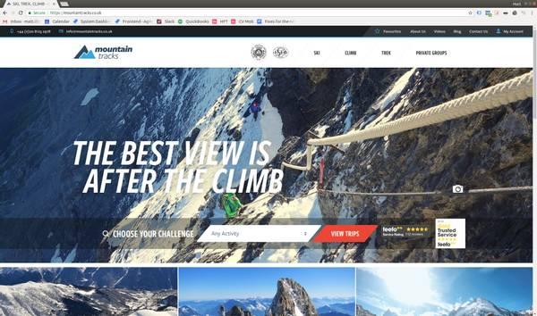 Mountain Tracks Website