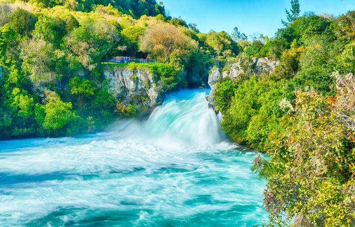 Huka Falls on Waikato River, New Zealand