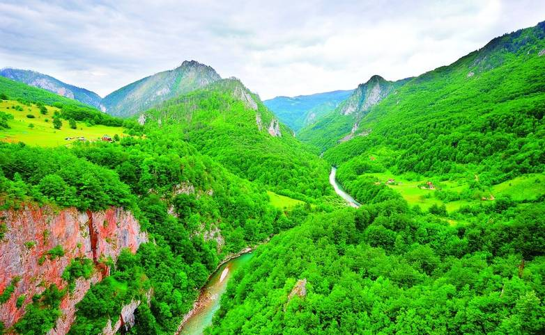 Canyon of the river Tara in Montenegro