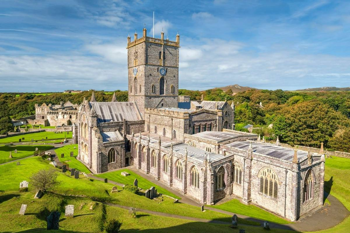 St Davids cathedral in South Wales