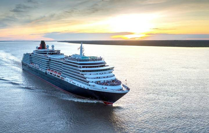 IMAGE SUPPLIED FREE FOR EDITORIAL USE ONLY. NO SALES. Cunardís luxury cruise ship, Queen Victoria, makes her maiden voyage …