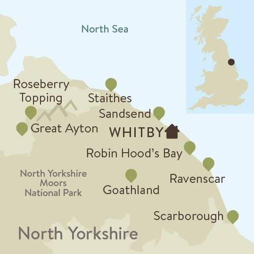 North York Moors Family Walking Itinerary Map