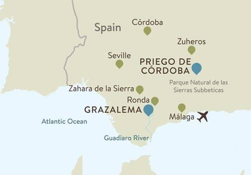 Andalucia Itinerary Map