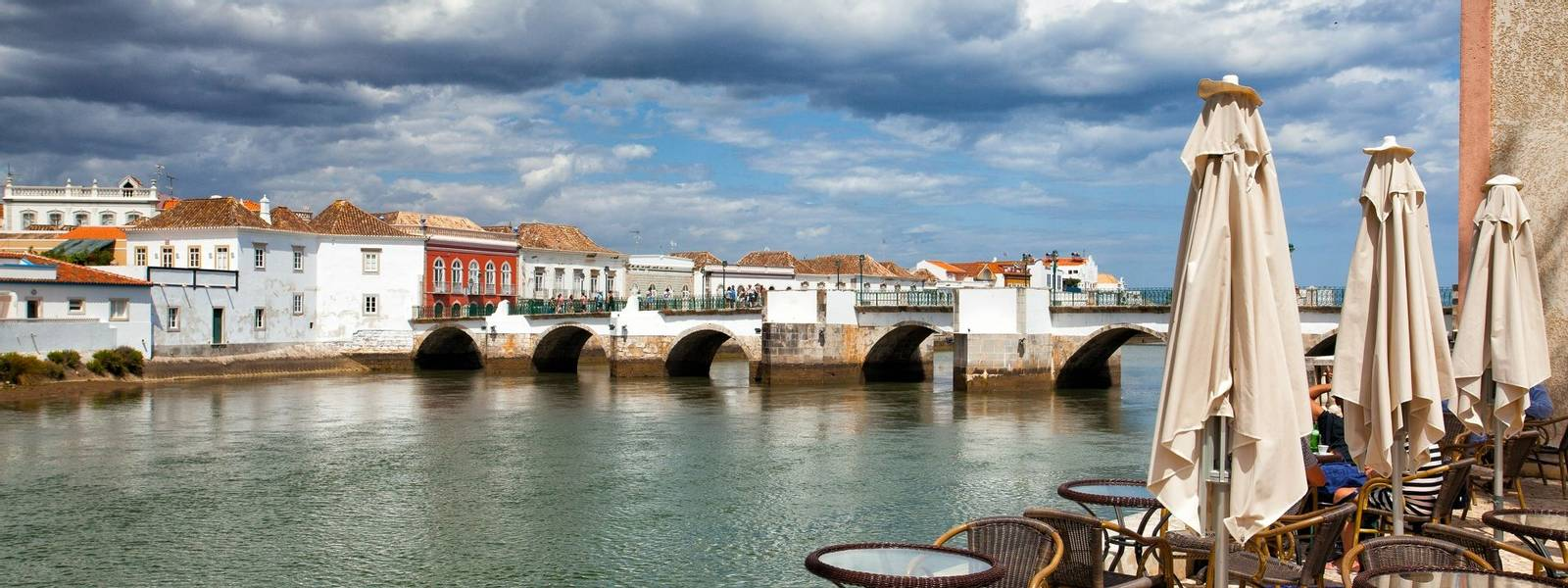 Historic architecture in Tavira city, Algarve,Portugal