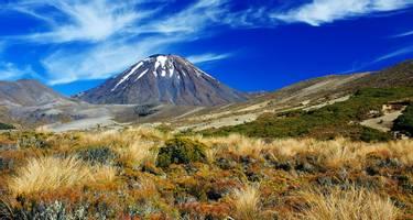 Volcano Ngauruhoe in New Zealand's Tongariro National Park