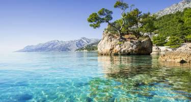 Baska Voda on the Dalmatian Coast, Croatia