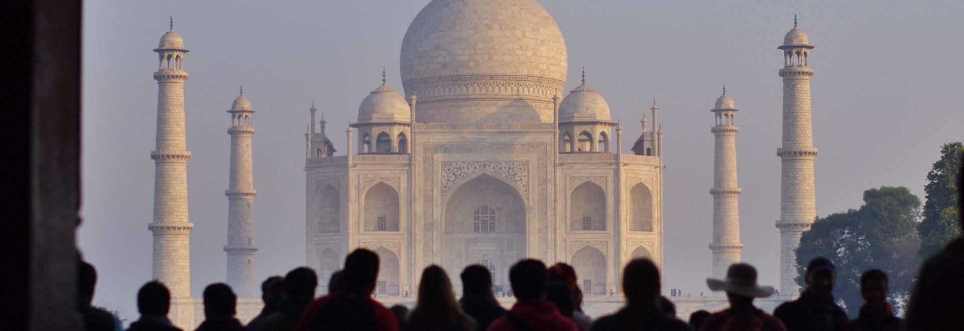 India Taj Mahal Shot.