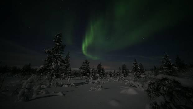 Nangu - Lake Inari Christmas Auroras