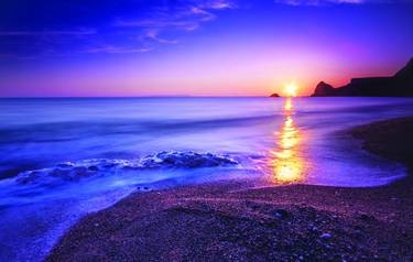 Serene South Dorset Beach and Sea at Sunset