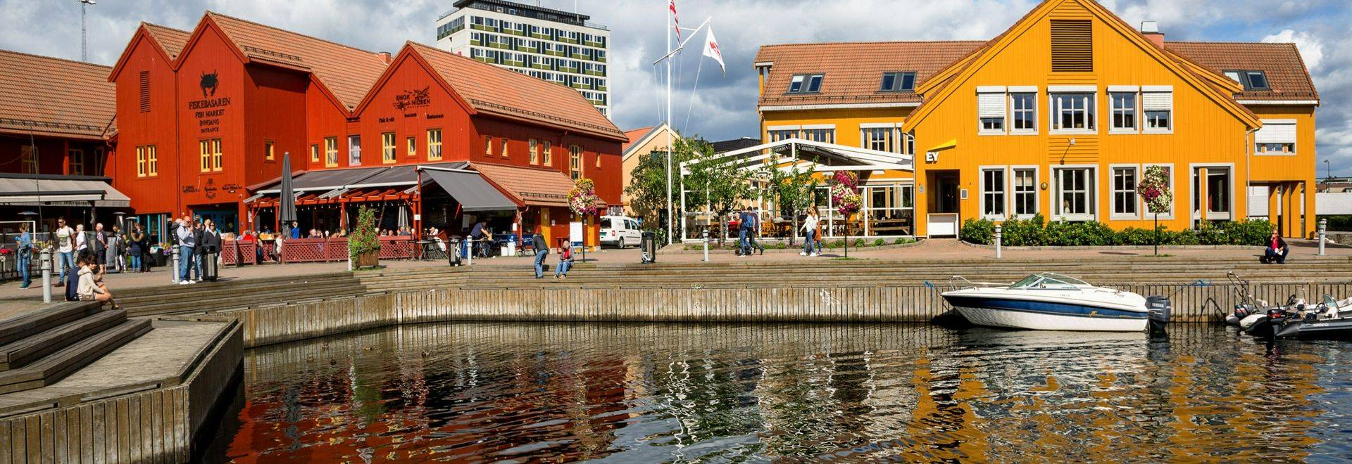 Kristiansand is a city, municipality and the county capital of Vest-Agder county in Southern Norway. Fiskebrygga (The Fish W…