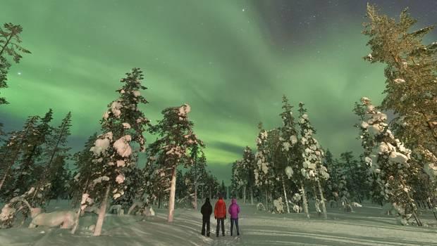 Wilderness Hotel Inari - Christmas Auroras by the lake